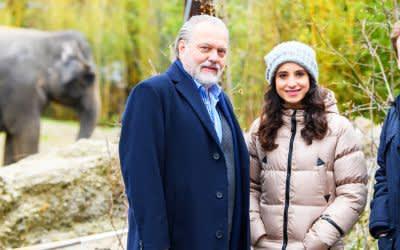 """TV-Dreh für eine Folge """"Der Alte"""" im Tierpark Hellabrunn"""