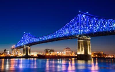 Jacques Cartier Bridge in Montreal