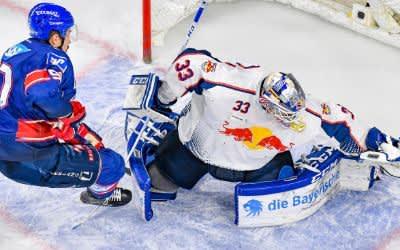 Spielszene im Spiel des EHC in Mannheim.