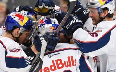 Der EHC Red Bull München beim Spiel gegen Adler Mannheim