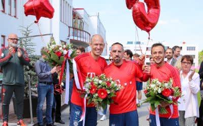 Verabschiedung von Arjen Robben, Franck Ribéry und Rafinha an der Säbener Straße