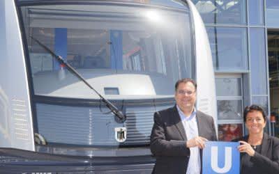 Präsentation der neuen U-Bahnen vom Typ C2
