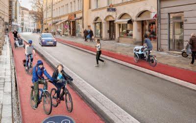 So soll die Frauenstraße laut ADFC-Studie nach dem Umbau aussehen