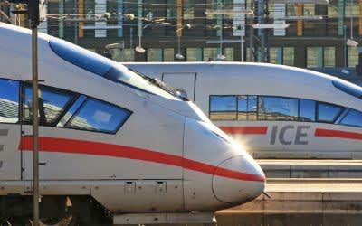 ICE-Züge am Münchner Hauptbahnhof