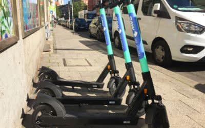 MVG E-Scooter in der Fraunhoferstraße
