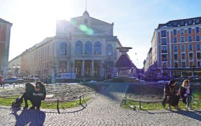 Wintersonne am Gärtnerplatz