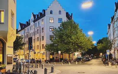 Die Ehrengutstraße im Dreimühlenviertel