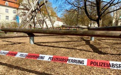 Corona: Polizeiabsperrung in München