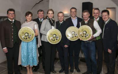 Münchner Innenstadtwirte mit Vorstand und Wirte, die neue Mitglieder der Innenstadtwirte wurden