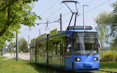 Tram im MVV-Gebiet