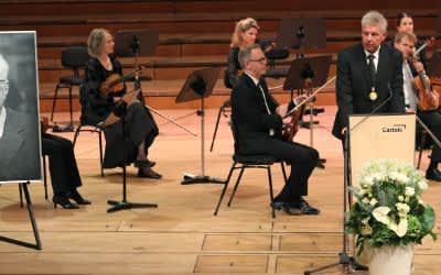OB Dieter Reiter bei Trauerfeier für Alt-OB Hans-Jochen Vogel