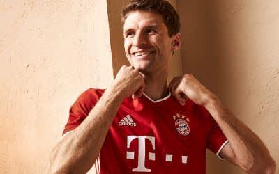 Thomas Müller im neuen Bayern-Trikot
