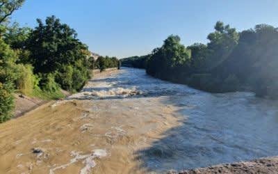 Isar-Hochwasser am 5.8.2020