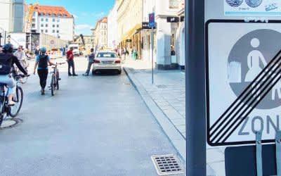 Fußgängerzone in der Dienerstraße