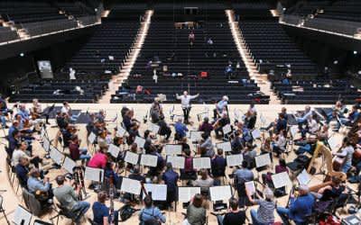 Erste Akustikproben der Münchner Philharmoniker in der neuen Isarphilharmonie
