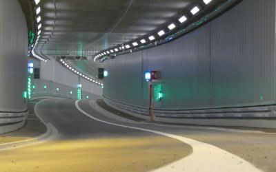 Luise-Kiesselbach-Tunnel vor der Eröffnung