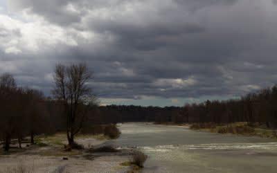 Sturmtief Niklas an der Isar