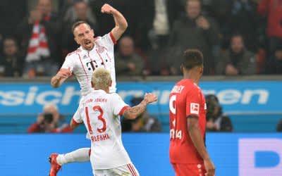 Bayer 04 Leverkusen - FC Bayern München am 12.01.2018 in der BayArena in Leverkusen Torjubel zum 0:2 durch Franck Ribery