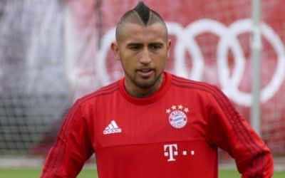 Arturo Vidal beim Bayern-Training