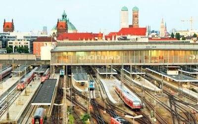Das Gleisfeld des Hauptbahnhofs München
