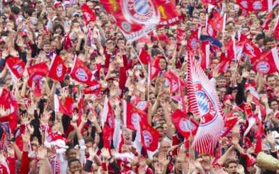 FC Bayern München - Meisterfeier am Marienplatz