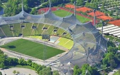 Luftbild des Olympiastadions
