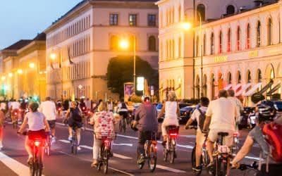 Radlnacht auf der Ludwigstraße