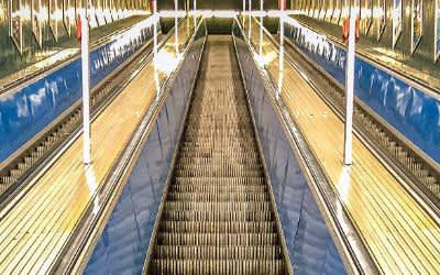 Die Rolltreppen am Marienplatz