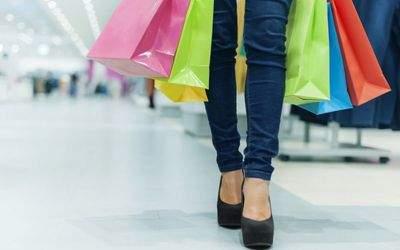 Bunte Einkaufstüten