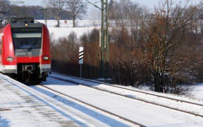 S-Bahn im Schnee