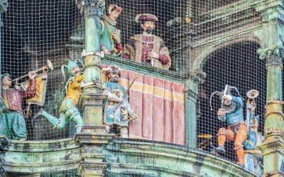 Das Glockenspiel am Münchner Rathaus