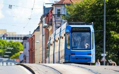 Tram an der Reichenbachbrücke