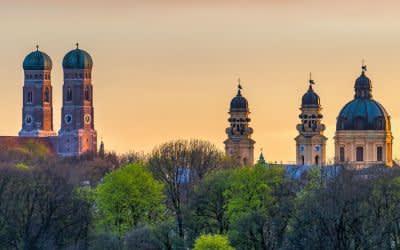 München-Panorama in der Abendsonne