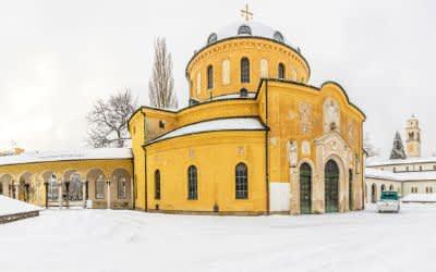 Der Westfriedhof im Schnee im Winter