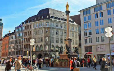 Impressionen vom Münchner Marienplatz