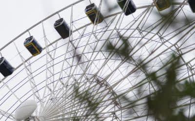 Das Riesenrad Hi-Sky im Münchner Werksviertel