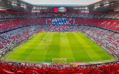 Choreo im Innenraum der Allianz Arena