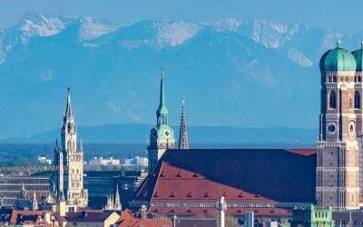 München-Panorama vom Olympiaberg