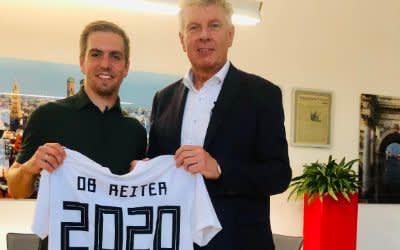 Philipp Lahm trifft OB Dieter Reiter
