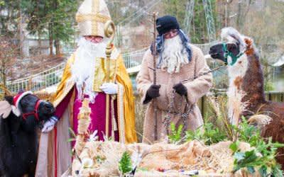 Nikolaus und Krampus in Hellabrunn