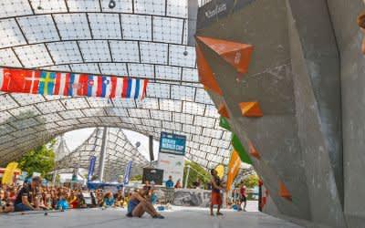 Boulder-Wettkampf im Münchner Olympiastadion