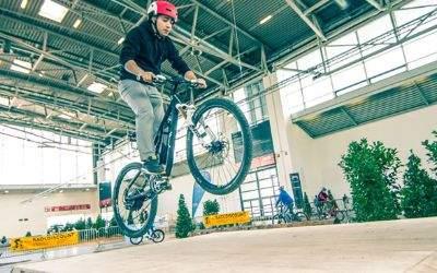 Fahrradparcours auf der f.re.e