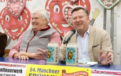 Bürgermeister Josef Schmid und Edmund Radlinger vom Münchner Schausteller Verein