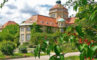 Der Botanische Garten in München.