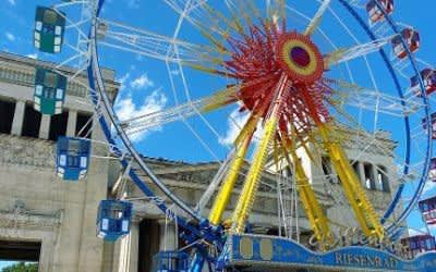 Sommer in der Stadt: Riesenrad Königsplatz