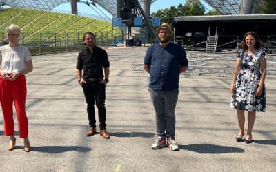 Bald eröffnet die Sommerbühne im Olympiastadion