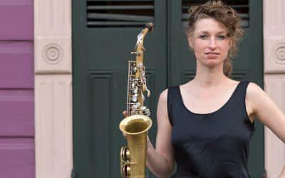 Saxofonistin Nicole Johänntgen