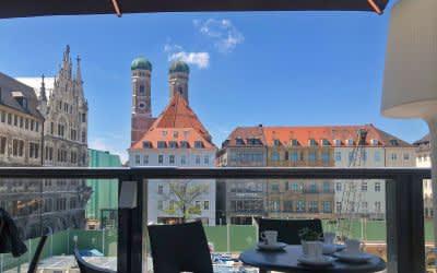 """""""Bar, Beats & Baustelle"""" bei der 2. Stammstrecke  - Dachterasse am Marienhof"""