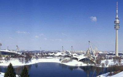 Winterpanorama vom Olympiapark
