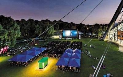 Das Open Air Kino am Olympiasee.